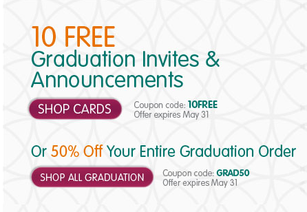 ink 1 InkGarden: 10 FREE Graduation Invites and Announcements OR 50% Off Entire Graduation Order