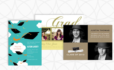 ink 2 InkGarden:10 FREE Graduation Invites and Announcements OR 50% Off Entire Graduation Order