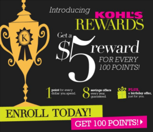 kohls use New Kohls Rewards Program   Earn Money When You Shop