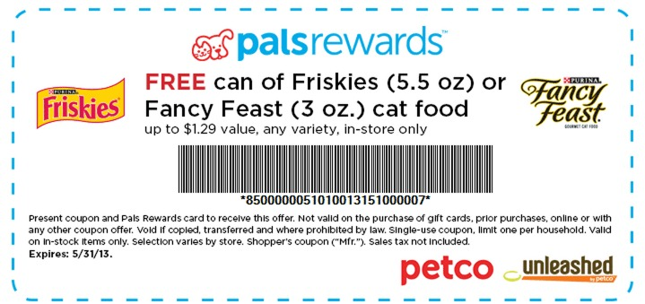 Petco: FREE Can of Friskies or Fancy Feast Cat Food
