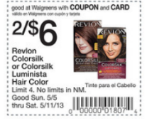 picture relating to Printable Hair Color Coupons named Revlon Hair Colour Printable Coupon codes + Walgreens Package deal