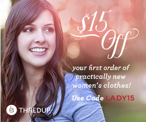thredup FREE $15 Promo Code to ThredUP Womens Clothes