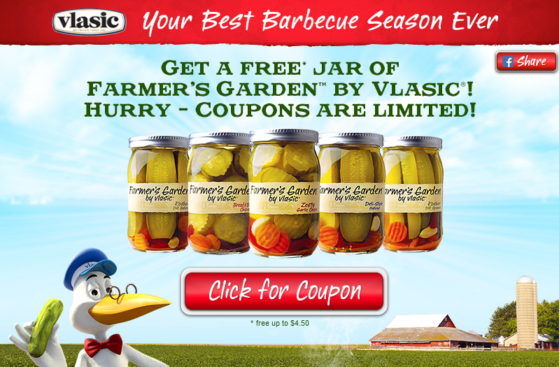 FREE Vlasic Farmer's Garden Product Printable