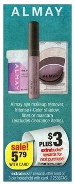 almay CVS: Better Than FREE Almay Cosmetic Products on 6/16 (ONE DAY ONLY)