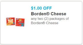 borden New Borden Cheese Printable Coupons + Walmart Deals
