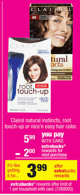 clairol Possibly FREE Clairol Root Touch up at CVS