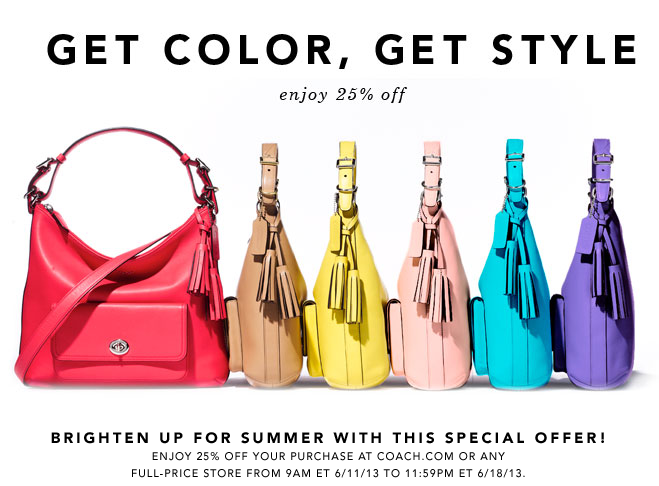 coach1 New 25% Off Coach Full Price Items Coupon
