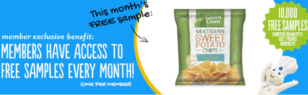 green giant Pillsbury Members: FREE Sample of Green Giant Veggie Chips