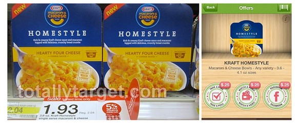 kraft homestyle Kraft Homestyle Mac & Cheese Bowls Deals at Target and Walmart (Pay as low as 18¢)