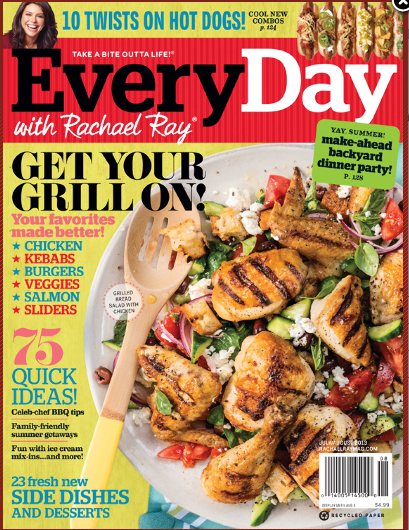 magazine One Year Subscription of Everyday with Rachael Ray for $4.99 (50¢ per issue)