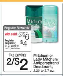 mitchum FREE Mitchum Deodorant at Walgreens