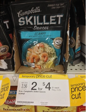 skillet target Campbells Skillet Sauces Printable Coupon + Walmart and Target Deals