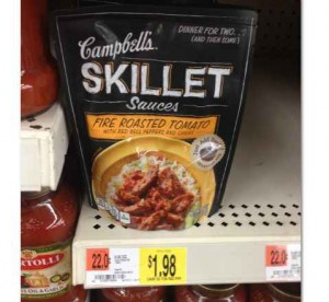 skillet Campbells Skillet Sauces Printable Coupon + Walmart and Target Deals