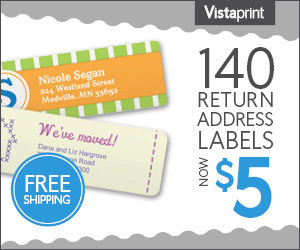 23802display only1 Vistaprint:140 Personalized Labels for Only $5, Including Shipping!