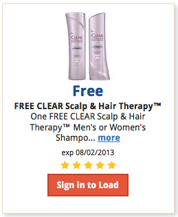 Screen Shot 2013 07 19 at 8.28.24 AM Kroger Shoppers:  FREE CLEAR Scalp & Hair Therapy Mens or Womens Shampoo, with Digital Coupon (Load Now)