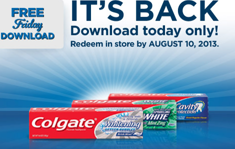 Screen Shot 2013 07 26 at 8.40.19 AM Kroger Shoppers:  FREE Colgate Toothpaste , with Digital Coupon (Load Now)