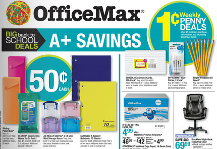 Back to School OfficeMax Deals for 7/28-8/3