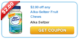 alka2 Alka Seltzer Fruit Chews Printable Coupon + CVS Deal Starting 7/7