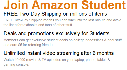 amazon FREE Amazon Prime for College Students