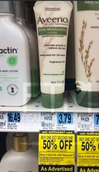 aveeno Aveeno Daily Moisturizing Lotion Just 35¢ Each (No Coupons Required)