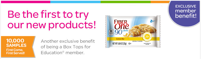 box top Box Top Members: FREE Sample of Fiber One Brownie Lemon Bars