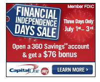 cap one savings use