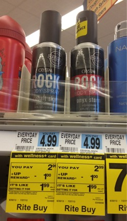 crystal FREE Crystal Rock Deodorant at Rite Aid