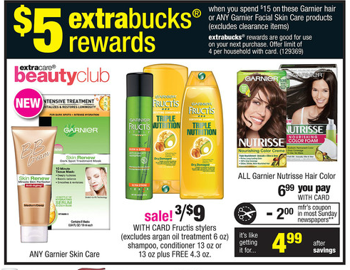 photograph about Garnier Coupons Printable named Garnier Fructis Printable Discount codes + CVS Package deal Beginning 7/14
