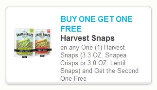 harvest snaps New B1G1 FREE Harvest Snaps Printable Coupon + Walmart Scenario
