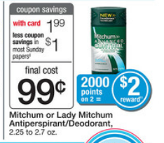 mitchum wags Two FREE Mitchum Deodorant at Walgreens