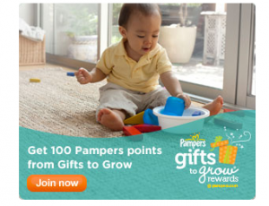 New Pampers Gifts to Grow Code Worth 10 Points!