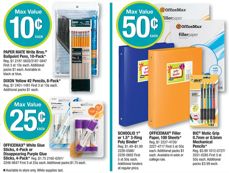 Back to School OfficeMax Deals for 7/21-7/27