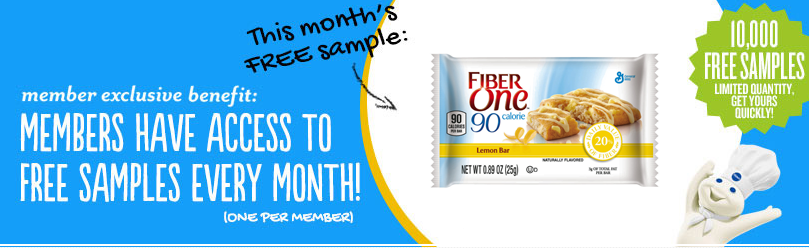 pillsbury Pillsbury Members: FREE Sample of Fiber One Brownie Lemon Bars