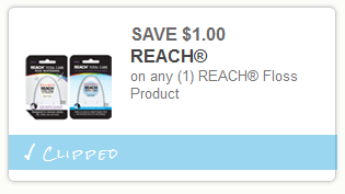 reach1 Reach Floss Printable Coupon = FREE at Walmart, Target and More