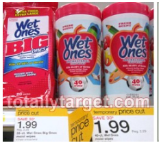 wet ones Wet Ones Target Triple Stack Deal = 60¢ Canisters or Single Boxes