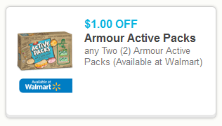 armour Armour Active Packs Printable Coupon + Walmart Rollback Deal