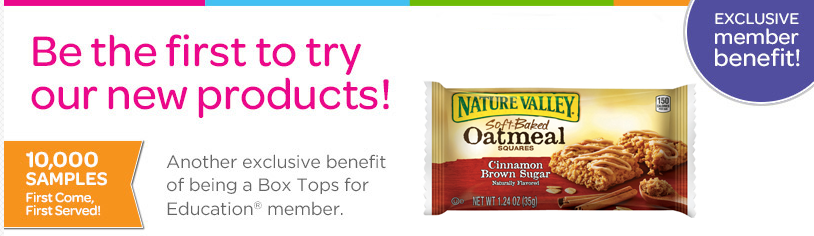 Box Top Members: FREE Sample of Nature Valley Soft Baked Oatmeal Squares