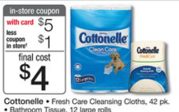 cottonelle Cottonelle Bathroom Tissue and Wipes Catalina Deal = Stock up Price at Walgreens