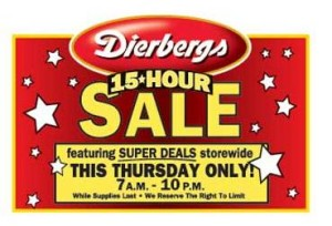 dierbergs 15 hour sale deals Dierbergs 15 Hour Sale Deals!