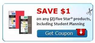 five star Five Star Products Printable Coupon + Upcoming Target Deal