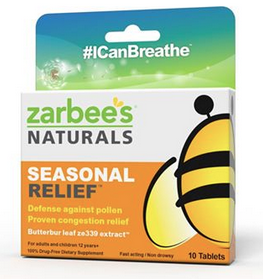 Free Sample of Zarbee's Naturals Seasonal Relief!