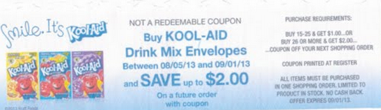 koolaid catalina pic Kool Aid Envelopes Printable Coupon + Catalina Offer = $0.07 Kroger Deal (Plus Fun Playdough Recipe)