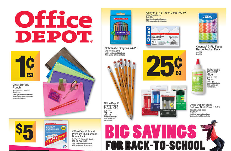 office depot Back to School Office Depot Deals for 8/4   8/10