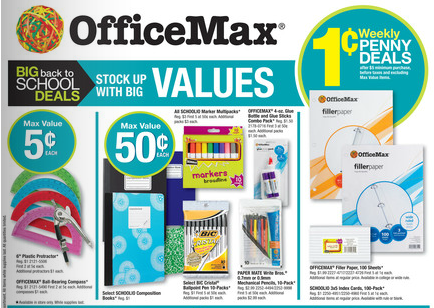 Office Max Back to School Deals for 8/4 – 8/10