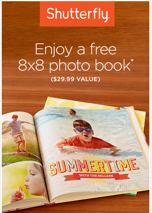 shutterfly FREE 8x8 Hardcover Photo Book (Just Pay Shipping)