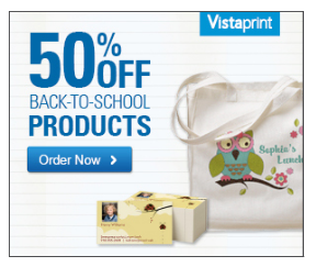 Vistaprint custom back to school products 50 off t for Vistaprint custom t shirts