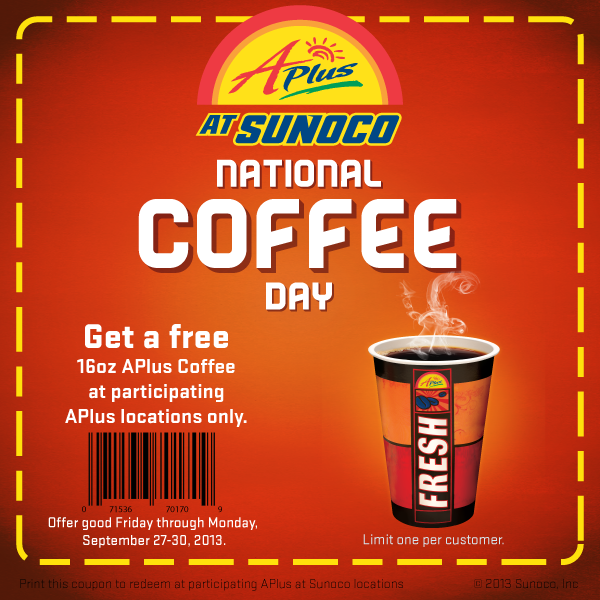 NCD Coupon FREEbies on National Coffee Day