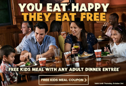 Outback Steakhouse: Kids Eat FREE Thru 10/3