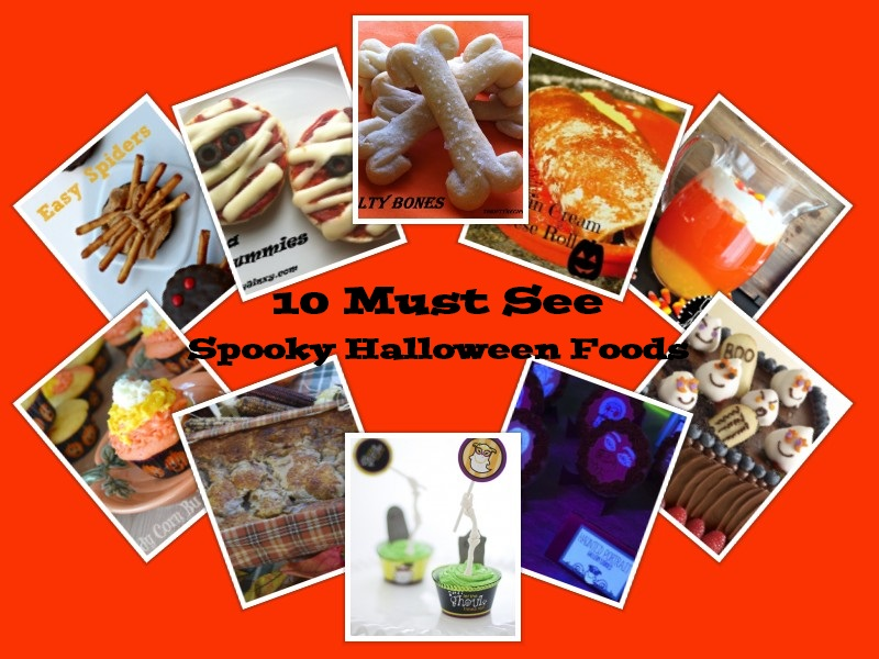 SpookyFoodsCollage