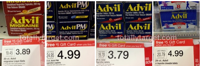advil1 New Advil Gift Card Scenarios = Cheap, FREE and Moneymaker Ideas at Target